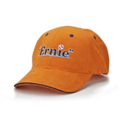 Ernie the Play Logo Orange Baseball Cap