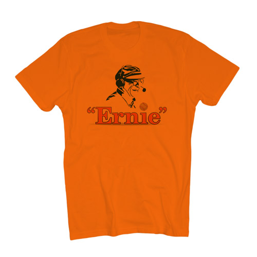 Ernie the Play Logo Orange T-shirt, short sleeves